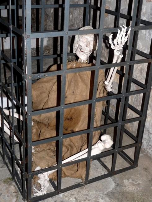 Skeleton at Medieval Festival in Itri Italy